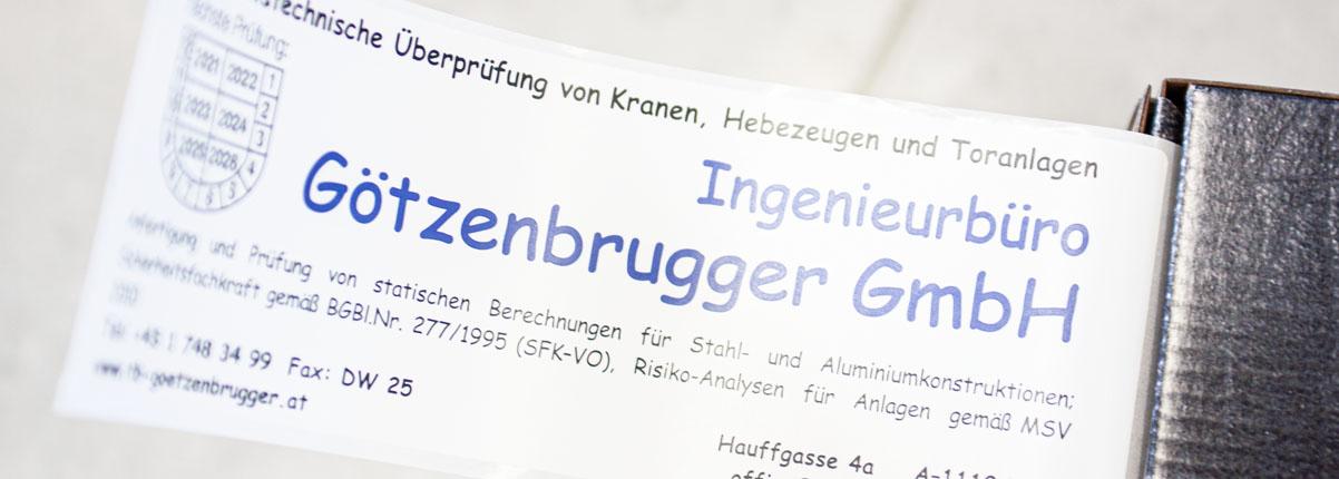 Ing Günther Götzenbrugger - Gutachten