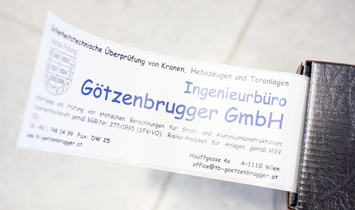 Ing Günther Götzenbrugger - Maschinenbau - Gutachten